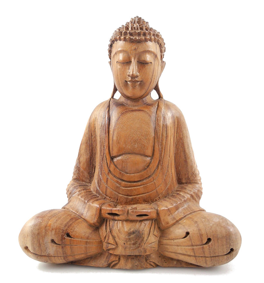 Bouddha Rieur Signification Position statue of buddha seated in meditation in the wood carving