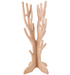 Jewelry tree for necklaces, bracelets, watches, solid wood gross