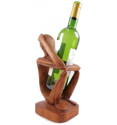 porte bouteille présentoir à bouteille statue abstraite penseur