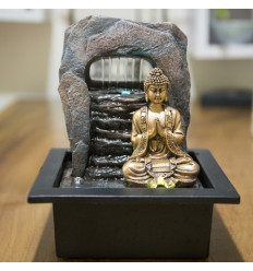 Grande fontana coperta Buddha Chakra 40cm di illuminazione a Led