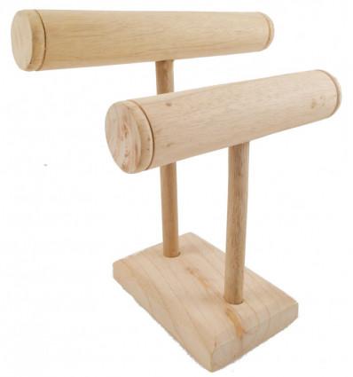 Presentoir a bracelets et montre en bois brut achat pas cher