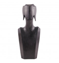 Présentoir à bijoux : buste en bois pour collier et boucles d'oreilles