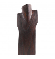 Bust display necklaces in solid wood brown H30cm