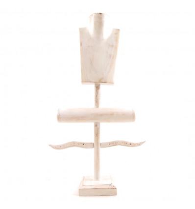 présentoir à bijoux professionnel bois, déco vitrine de bijoutier.
