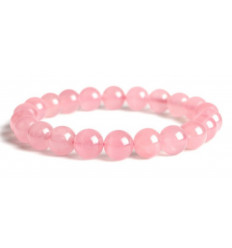 Bracelet Lithotherapie rose Quartz natural - Peace and Love