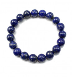 Bracelet Lithotherapie Lapis Lazuli natural Good humor and friendship.
