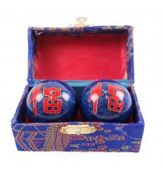 """Boules de Relaxation et Santé chinoises Qi Gong """"Bonne chance"""""""