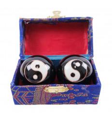 Boules de massage Qi Gong motif Yin Yang
