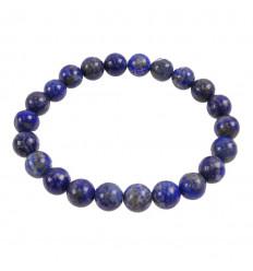 Bracelet Lapis Lazuli d'Afghanistan, boules 8mm qualité premium AAA