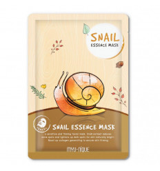 Mask facial treatment with snail slime for acne and eczema.