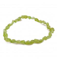 Bracelet Péridot naturelle, pierres roulées qualité Extra AAA