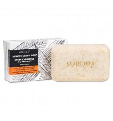 Savon exfoliant à l'abricot et miel végane, commerce équitable, Maroma