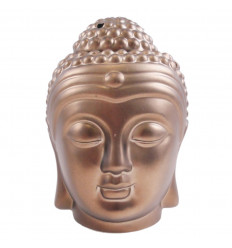 Brule profumo testa del Buddha Zen in ceramica artigianale di bronzo