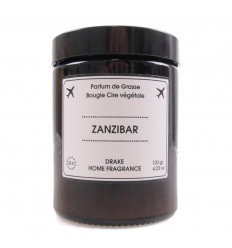 "Scented candle, vegetable wax ""Zanzibar"" scent jasmine chypre, Drake."