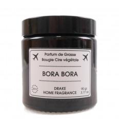 """Candela profumata, cera vegetale """"Bora Bora"""" fiore di tiaré, Drake."""