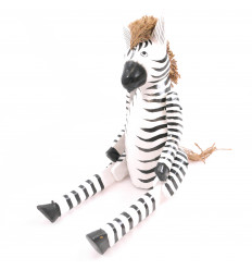 Marionette puppet articulated Zebra wood. Handcrafted.