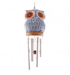 Carillon di vento mestiere. Sattuette gufo in legno intagliato a mano a buon mercato