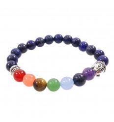Bracelet in Lapis Lazuli from Afghanistan AAA - balls 8mm