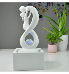"Indoor fountain modern Union ""infinite"" white."