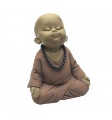 Statuette Bébé Bouddha zen méditation. Bébé moine bouddhiste enfant.
