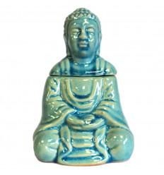 Il bruciore / Diffusore di profumo a forma di Buddha in ceramica nera