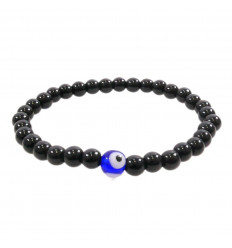 Bracelet lucky Onyx, natural - Eye Turkish