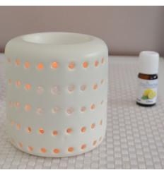 Brule profumo della candela di mercato, supporto di candela di design con ceramica bianca.