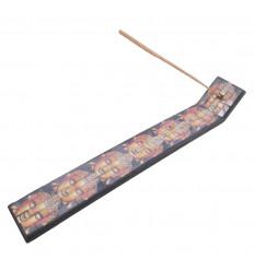 Porte-encens mosaïque motif Yin Yang et symbole Ôm - pour batons