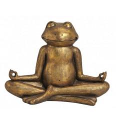 Grenouille dorée Yogi 30cm - Décoration Zen Yoga
