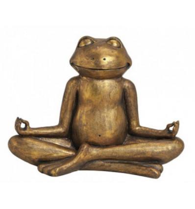 Rana d'oro Yogi 30 cm - Decorazione Zen Yoga