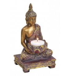 Bougeoir Bouddha en méditation 18cm