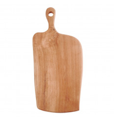 Cutting board in teak-45cm. Handcrafted.