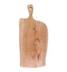 Cutting board in teak wood, 50cm. Exotic wood. Crafts on the cheap.