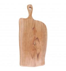 Planche à découper en teck, 50cm. Bois exotique. Artisanat pas cher.
