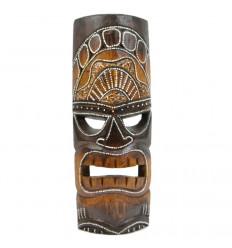 Maschera Tiki h30cm legno. Decorazione Maori Tahiti E La Polinesia.