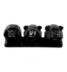 """The 3 monkeys """"secret of happiness"""". Statuette of solid wood H7cm"""