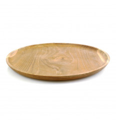 Serving tray in Teak wood ⌀30cm.