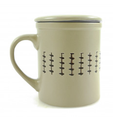 Mug infuser tea 340ml. Ethnic Style beige.