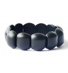 Bracelet Lithotherapie Jade black - balance the energies, protects the pregnancy.