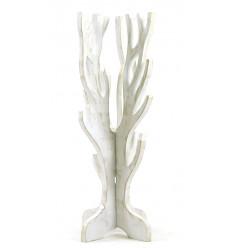 Gioielli albero per collane, bracciali, orologi in legno massello finitura bianco spazzolato