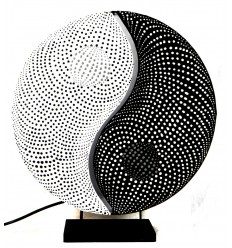 "Living room lamp ""Yin Yang"". Decorating Zen asian."