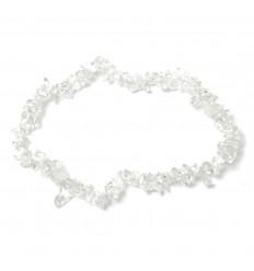 Bracelet baroque en Cristal de roche - Force et Protection