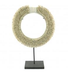 Guscio di ciprea collare etnico africano ø30cm