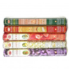 Assortment of incense Precious 5 perfumes / 40 sticks, Hem Precious.