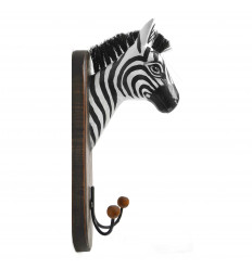 Robe hook/Cup Wall mounted Head of a Zebra by Manufactured Wood Handmade