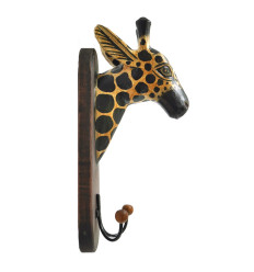 Peg/Trophy Mural Head of Giraffe Wooden Made Handicrafts