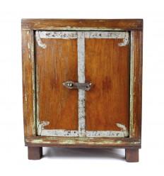 Petit Meuble Ancien 2 Portes Retro/Vintage en Bois 54cm