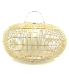 Great suspension / Chandelier oval natural rattan ø50cm - homebuilt