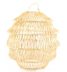 Suspension / Lustre en fibre végétale ø40cm - fabrication artisanale