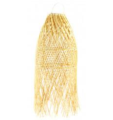 Sospensione / Lampadario lungo 60cm naturale rattan - artigianale